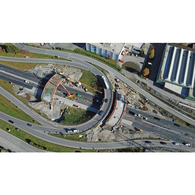 Baustelle Kreisverkehr Bürs